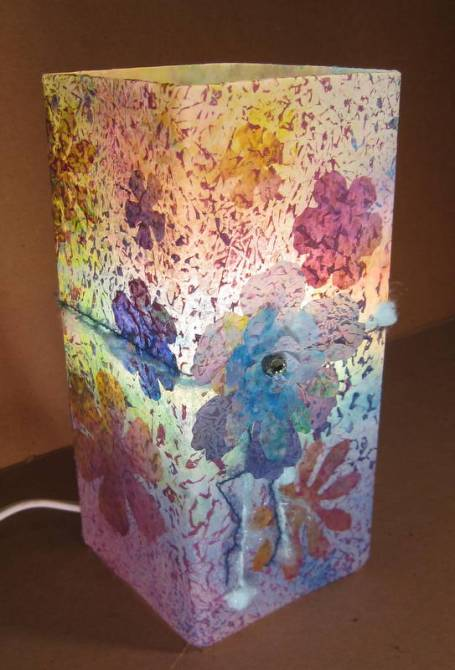 Tattered Flower Lamp