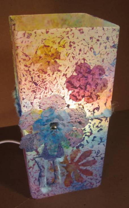 Tattered Florals Lamp