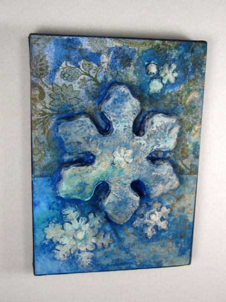 Snowflake Canvas for Homemade Home Decor Week