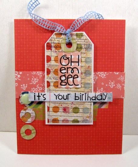 Oh Em Gee Birthday card