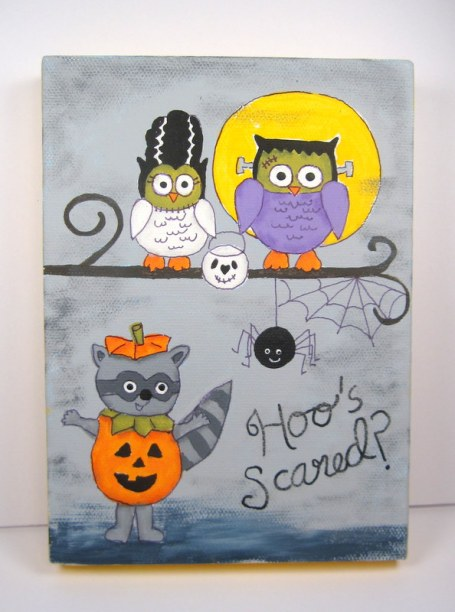 Hoo's Scared Halloween Canvas